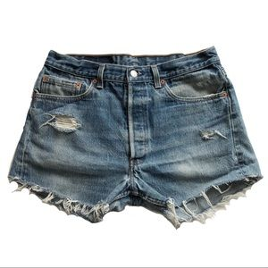 Levi's 501xx Wedgie Button Fly High Waisted Shorts